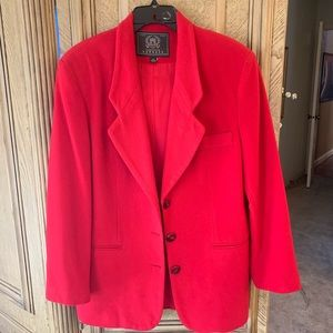 Holiday Red Express Blazer lined, pair with Boots